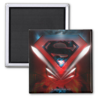Superman Stylized | Futuristic Logo Square Magnet