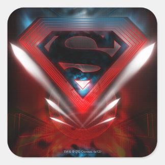 Superman Stylized | Futuristic Logo Square Sticker