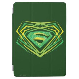 Superman Stylized | Green Decorative Logo iPad Air Cover