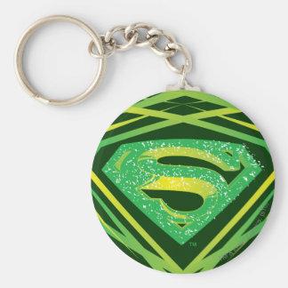 Superman Stylized   Green Decorative Logo Key Ring