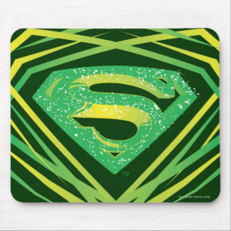 Superman Stylized   Green Decorative Logo Mouse Mat