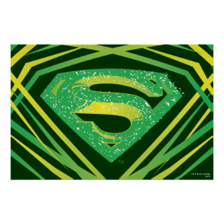 Superman Stylized | Green Decorative Logo Poster