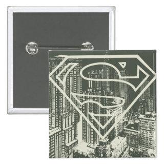 Superman Stylized | Green Metropolis Logo 15 Cm Square Badge