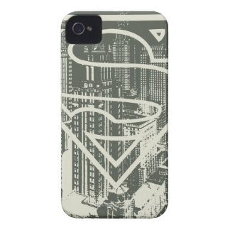 Superman Stylized | Green Metropolis Logo iPhone 4 Cover