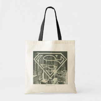 Superman Stylized | Green Metropolis Logo Tote Bag