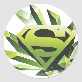 Superman Stylized | Green Shield Logo Classic Round Sticker