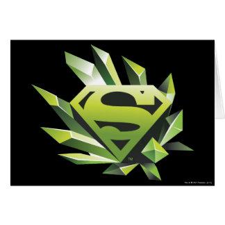 Superman Stylized | Green Shield Logo Greeting Card