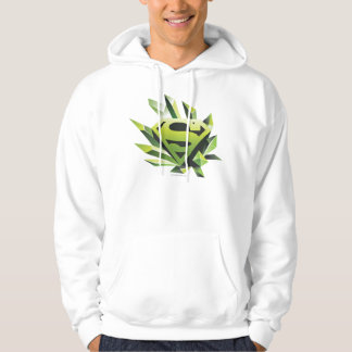 Superman Stylized | Green Shield Logo Hoodie