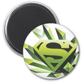 Superman Stylized   Green Shield Logo Magnet