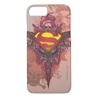 Superman Stylized | Grunge Design Logo iPhone 8/7 Case