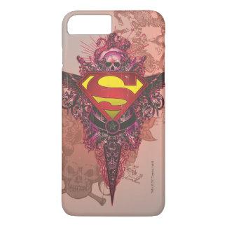 Superman Stylized | Grunge Design Logo iPhone 8 Plus/7 Plus Case
