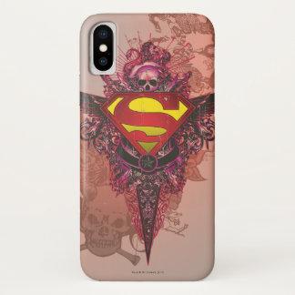 Superman Stylized | Grunge Design Logo iPhone X Case