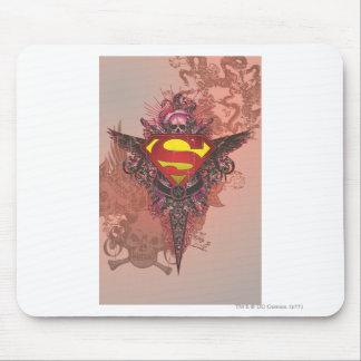 Superman Stylized | Grunge Design Logo Mouse Pad