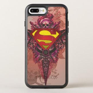 Superman Stylized | Grunge Design Logo OtterBox Symmetry iPhone 7 Plus Case