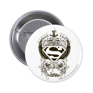 Superman Stylized | Honor, Truth and Justice Logo 6 Cm Round Badge