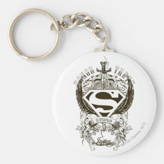 Superman Stylized   Honor, Truth and Justice Logo Key Ring