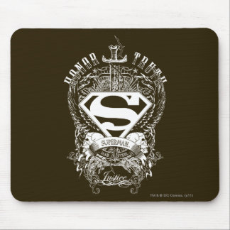 Superman Stylized | Honor, Truth and Justice Logo Mouse Mat