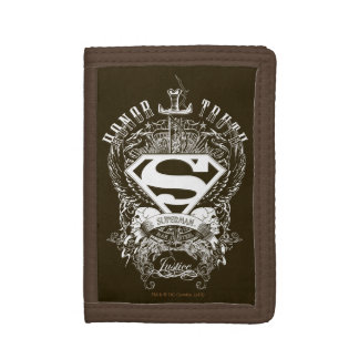 Superman Stylized | Honor, Truth and Justice Logo Trifold Wallets