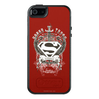 Superman Stylized | Honor, Truth on White Logo 2 OtterBox iPhone 5/5s/SE Case