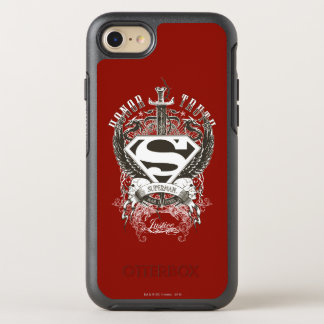 Superman Stylized | Honor, Truth on White Logo 2 OtterBox Symmetry iPhone 8/7 Case