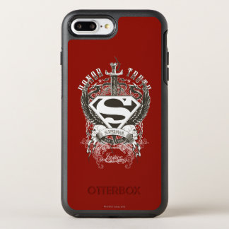 Superman Stylized | Honor, Truth on White Logo 2 OtterBox Symmetry iPhone 8 Plus/7 Plus Case