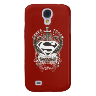 Superman Stylized   Honor, Truth on White Logo Galaxy S4 Case