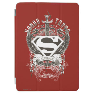 Superman Stylized | Honor, Truth on White Logo iPad Air Cover