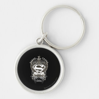 Superman Stylized | Honor, Truth on White Logo Key Ring