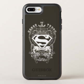 Superman Stylized | Honor, Truth on White Logo OtterBox Symmetry iPhone 8 Plus/7 Plus Case