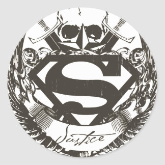 Superman Stylized | Justice Logo Classic Round Sticker