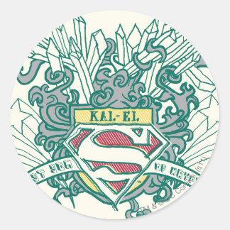 Superman Stylized | Kal-El Logo Classic Round Sticker