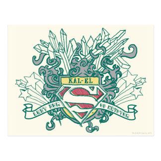 Superman Stylized | Kal-El Logo Postcard
