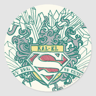 Superman Stylized | Kal-El Logo Round Sticker