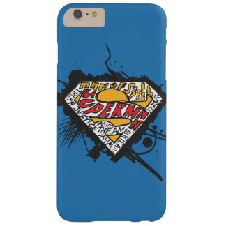 Superman Stylized | Logo with letters Logo Barely There iPhone 6 Plus Case
