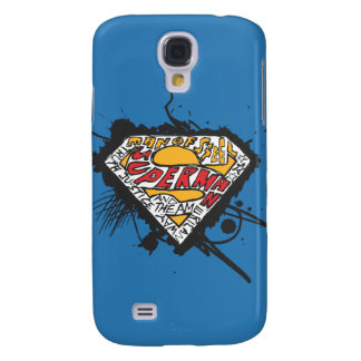 Superman Stylized   Logo with letters Logo Galaxy S4 Case