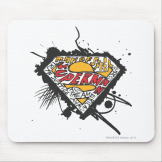 Superman Stylized | Logo with letters Logo Mouse Pad