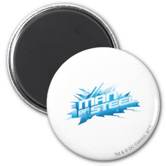 Superman Stylized | Man of Steel - Ice Logo 6 Cm Round Magnet