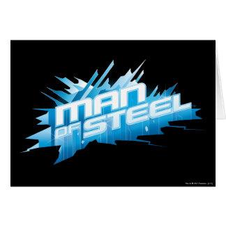 Superman Stylized | Man of Steel - Ice Logo Greeting Card