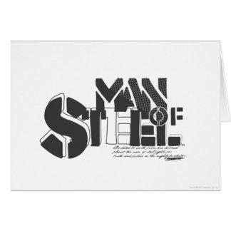 Superman Stylized   Man Of Steel Letters Logo Card