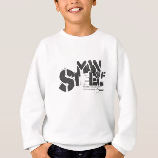 Superman Stylized | Man Of Steel Letters Logo Sweatshirt