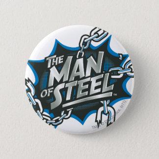 Superman Stylized | Man of Steel Splash Logo 6 Cm Round Badge