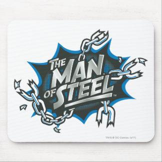 Superman Stylized | Man of Steel Splash Logo Mouse Mat