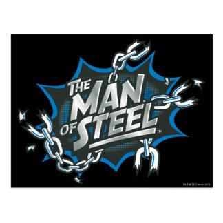 Superman Stylized | Man of Steel Splash Logo Postcard