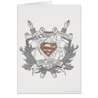 Superman Stylized | Mild Mannered Reporter Logo Card
