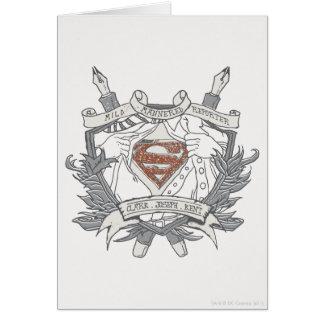 Superman Stylized | Mild Mannered Reporter Logo Greeting Card