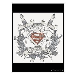 Superman Stylized   Mild Mannered Reporter Logo Postcard