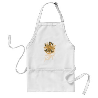 Superman Stylized | Orange Heart Beige Logo Standard Apron