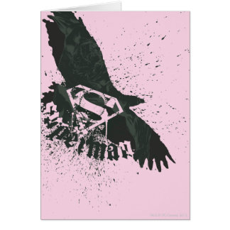 Superman Stylized | Pink with Bird Logo Card