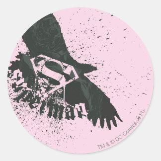 Superman Stylized | Pink with Bird Logo Classic Round Sticker