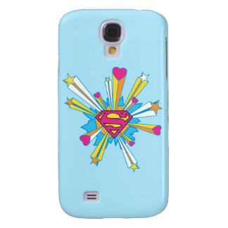 Superman Stylized | Pink with Hearts Logo Galaxy S4 Case